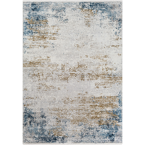 Solar Blue and Yellow Rectangular: 5 Ft. x 7 Ft. 6 In. Rug