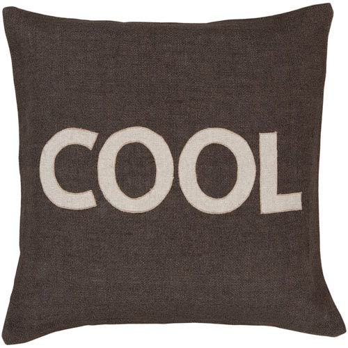 Surya Cool Charcoal Jute 22 x 22 Pillow