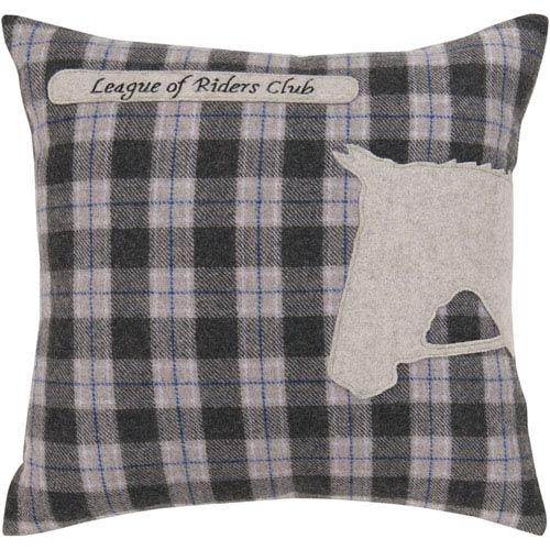 Surya Riders Club Plaid 18 x 18 Pillow