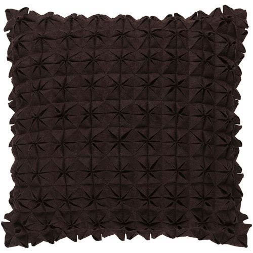 Structure Black 18-Inch Pillow with Poly Fill