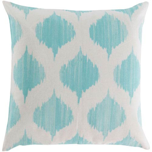 Ogee Blue and Neutral 18-Inch Pillow Cover