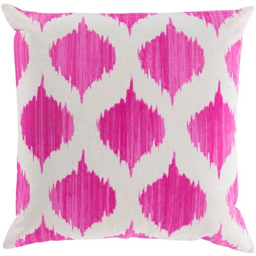 Ogee Pink and Neutral 22-Inch Pillow Cover