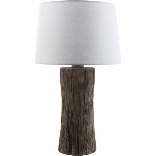 Surya Sycamore Faux Wood One-Light Table Lamp