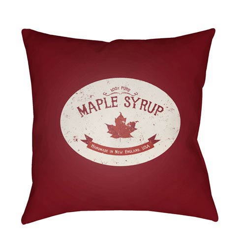 Red Maple Syrup 18-Inch Throw Pillow with Poly Fill
