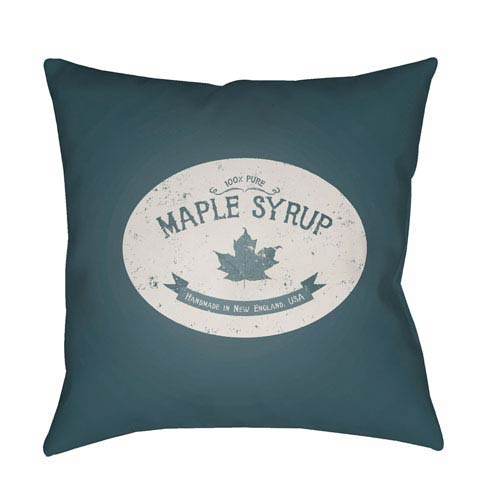 Blue Maple Syrup 20-Inch Throw Pillow with Poly Fill