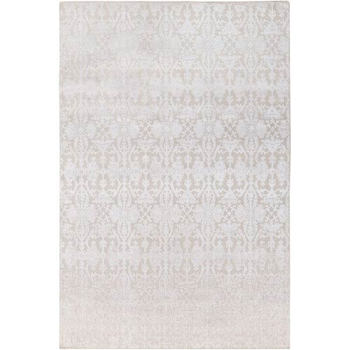 Tidal Khaki and White Rectangular: 6 Ft. x 9 Ft. Rug