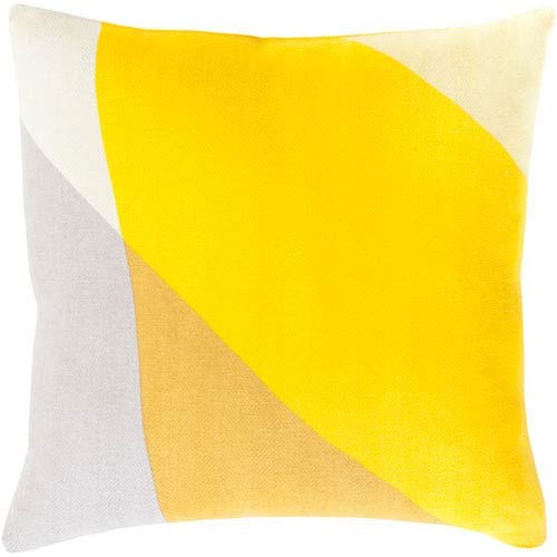 Teori Yellow 22-Inch Pillow Cover