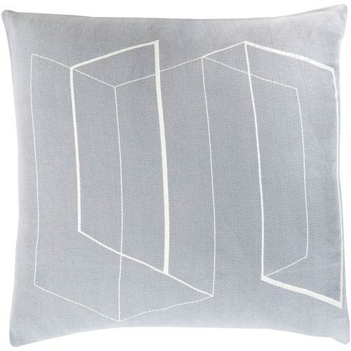 Teori Gray and Neutral 20-Inch Pillow Cover