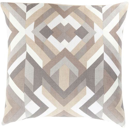 Teori Gray 18-Inch Pillow Cover