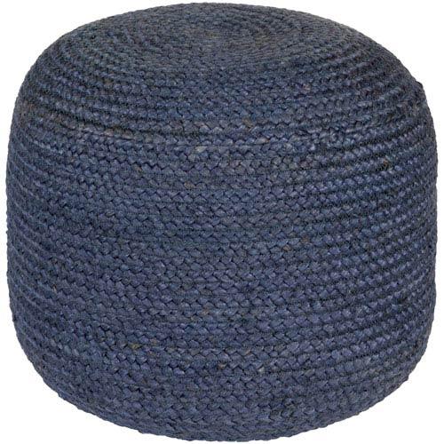 Blue Tropics Sphere Pouf