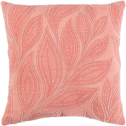 Tansy Orange and Pink 22-Inch Pillow Cover