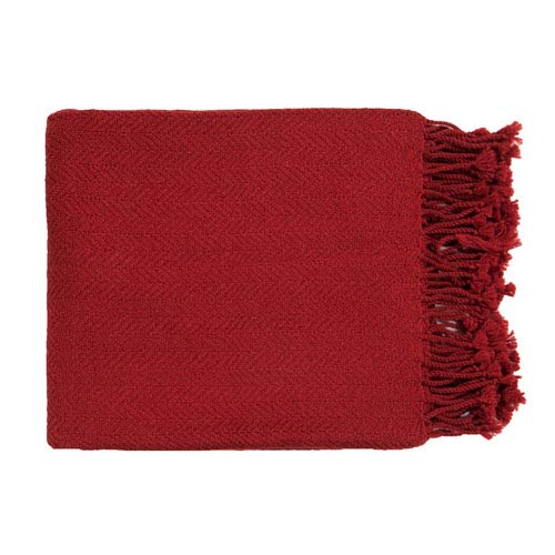 Turner Red Throw