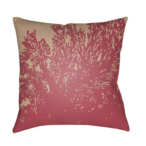 Surya Textures Fuchsia and Taupe 22 x 22-Inch Pillow
