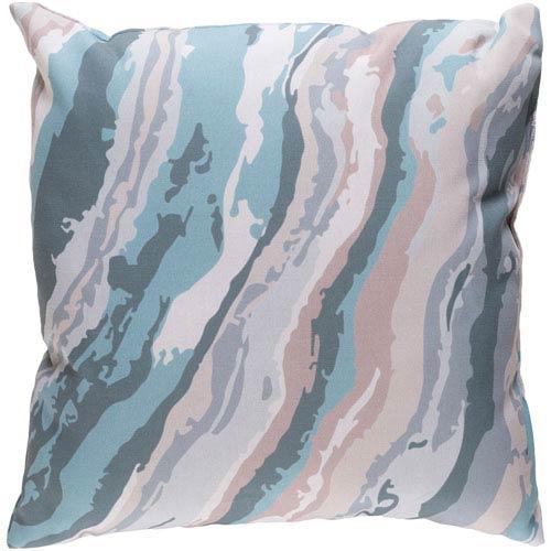 Surya Textures Aqua and Teal 22 x 22-Inch Pillow