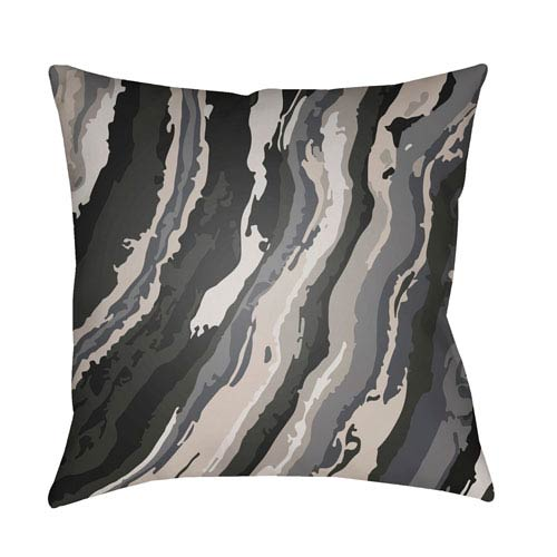 Surya Textures Black and Navy 22 x 22-Inch Pillow
