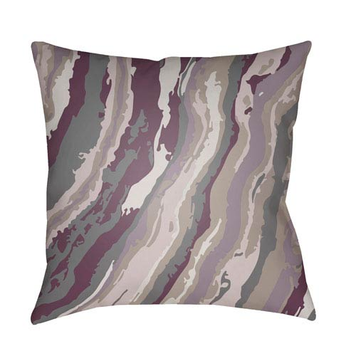 Surya Textures Bright Purple and Charcoal 18 x 18-Inch Pillow