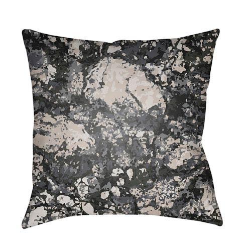 Surya Textures Black and Denim 22 x 22-Inch Pillow