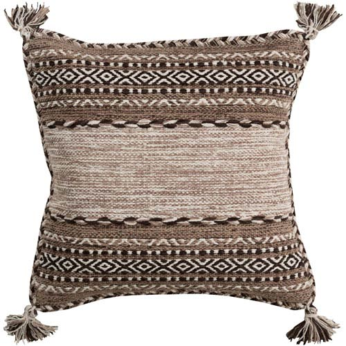 Trenza Brown 20-Inch Pillow Cover