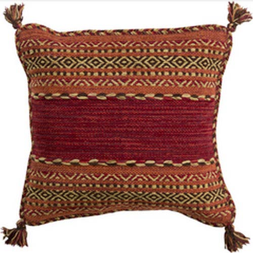 Trenza Cherry 20-Inch Pillow with Poly Fill