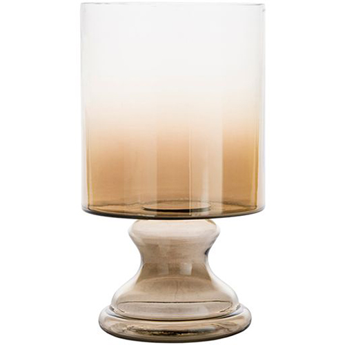 Vanburen Small Tan Ombre Hurricane Vase
