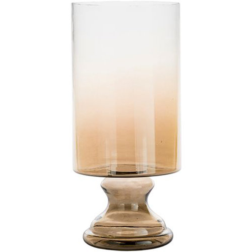 Vanburen Large Tan Ombre Hurricane Vase