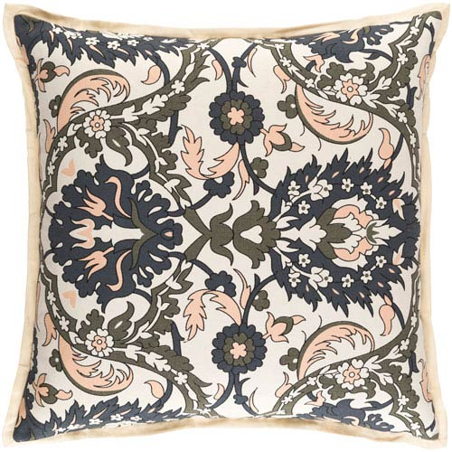 Vincent Orange and Brown 22-Inch Pillow Cover