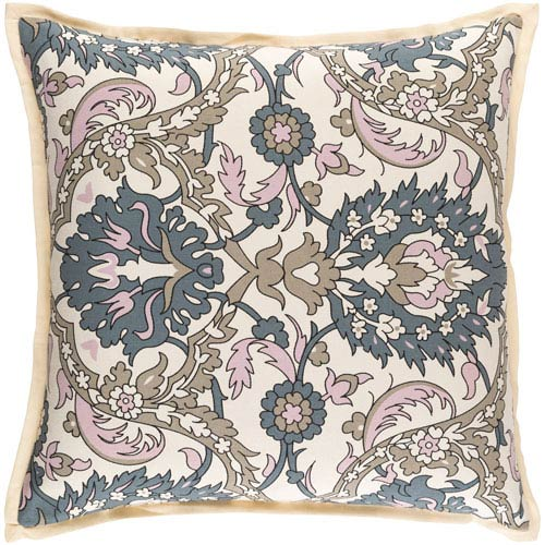 Vincent Pink and Neutral 22-Inch Pillow Cover