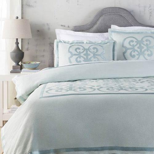 Versaille Aqua Twin Bed Skirt