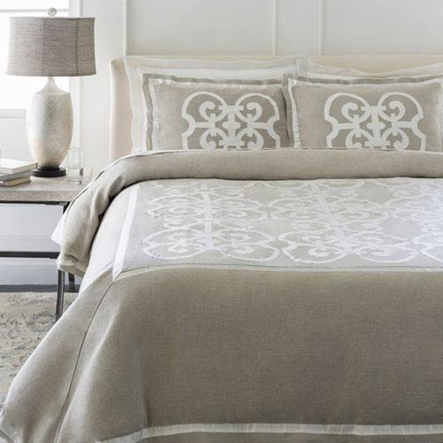 Versaille Undyed Natural California King Bed Skirt
