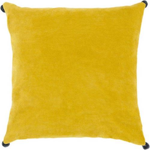 Vivacious Velvet Lemon 22-Inch Pillow with Poly Fill