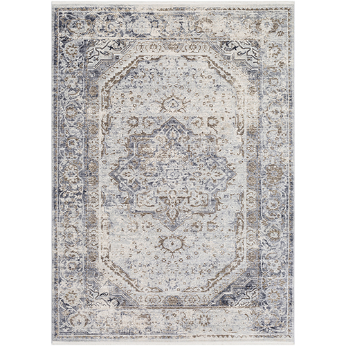 Liverpool Silver Grey and Camel Rectangular: 5 Ft. x 7 Ft. 10 In. Rug