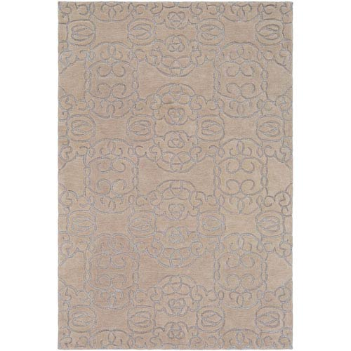 Surya Vernier Cream and Light Gray Rectangular: 2 Ft. x 3 Ft. Rug