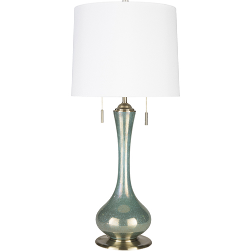 Wakefield Iridescent Teal One-Light Table Lamp