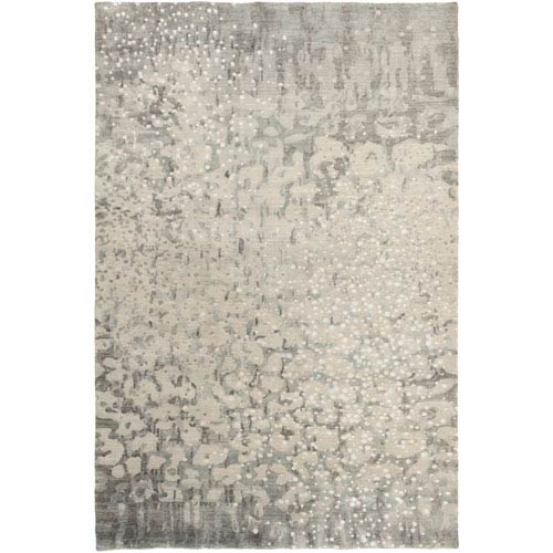Surya Watercolor Charcoal and Ivory Rectangular: 8 Ft x 11 Ft Rug