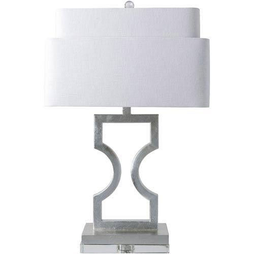 Surya Wellesly Silver Table Lamp