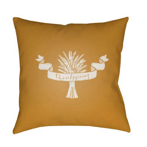 Yellow Wheat 20-Inch Throw Pillow with Poly Fill