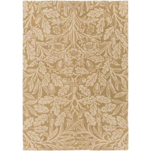William Morris Green and Neutral Rectangular: 2 Ft. x 3 Ft. Area Rug