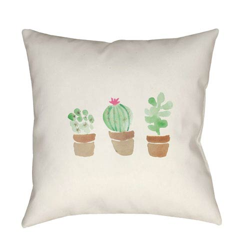 Surya Tres Flores Multicolor 20 x 20-Inch Throw Pillow