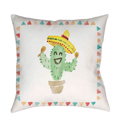 Surya Cactus Multicolor 18 x 18-Inch Throw Pillow