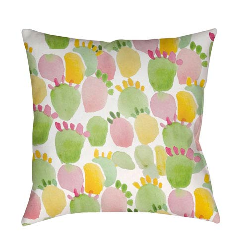 Surya Prickly Multicolor 18 x 18-Inch Throw Pillow