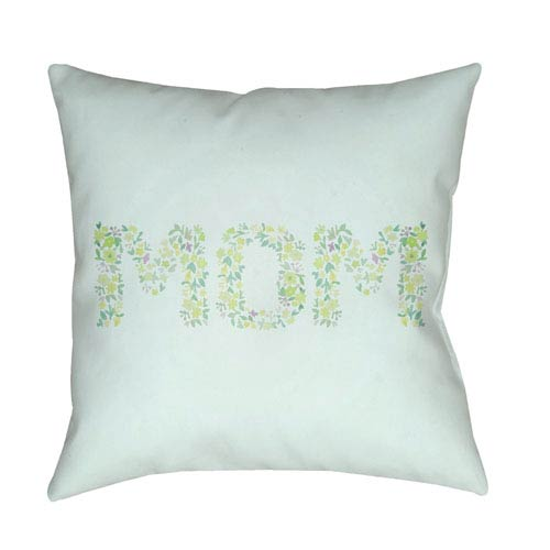 Surya Mom Multicolor 20 x 20-Inch Throw Pillow