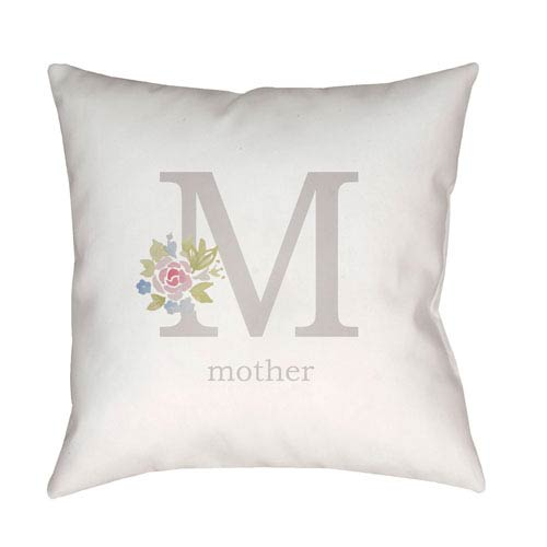 Surya Mother Multicolor 18 x 18-Inch Throw Pillow