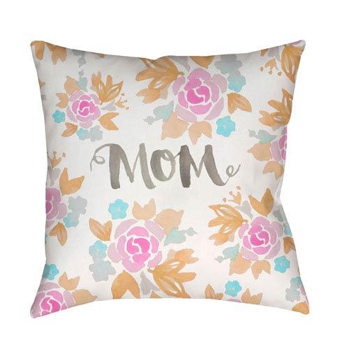 Surya Mom II Multicolor 18 x 18-Inch Throw Pillow