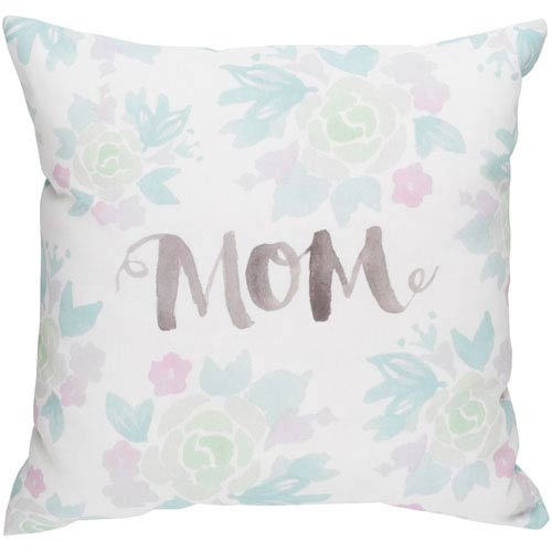 Surya Mom II Multicolor 20 x 20-Inch Throw Pillow