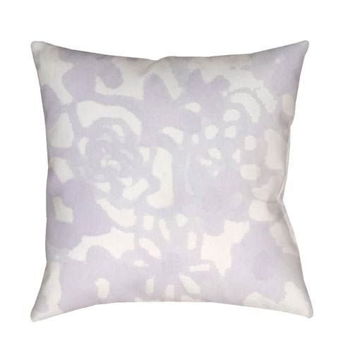 Surya Flowers II Purple and Neutral 18 x 18-Inch Throw Pillow