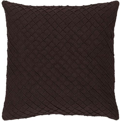 Wright Black 18-Inch Pillow with Poly Fill