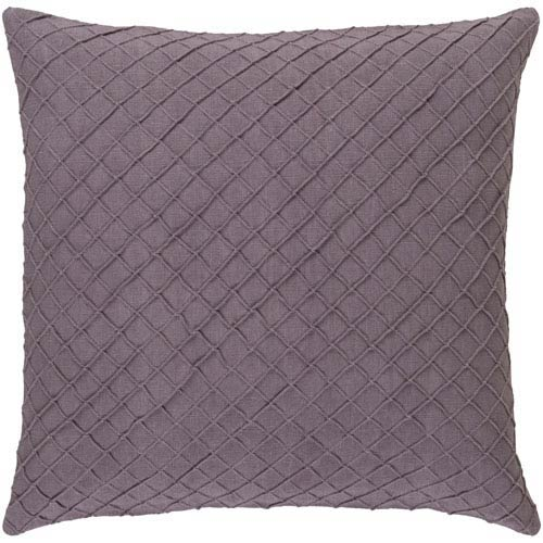 Wright Mauve 18-Inch Pillow with Poly Fill