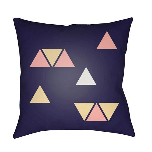 Surya Triangles Multicolor 20 x 20-Inch Throw Pillow