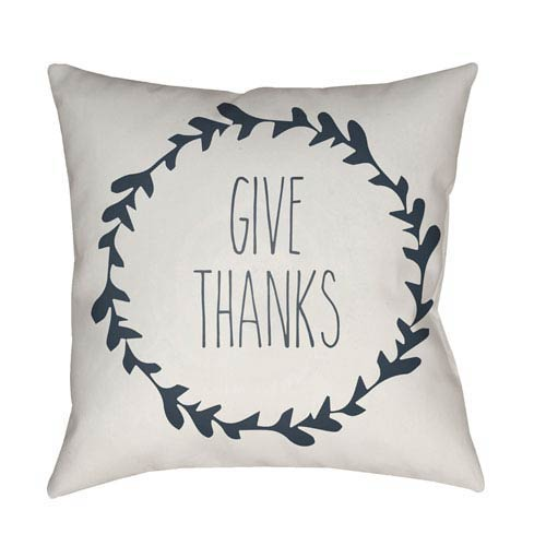 White Wreath 20-Inch Throw Pillow with Poly Fill