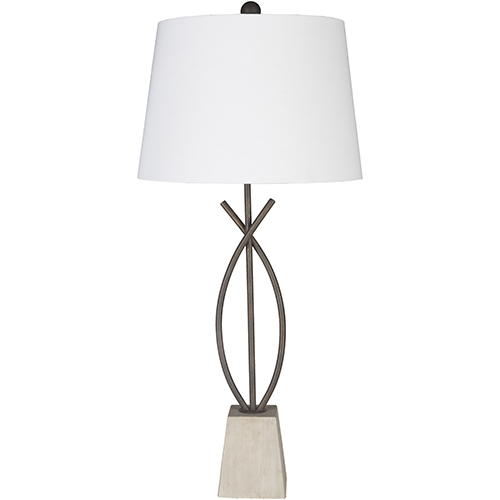 Surya Wyatt Natural Iron One-Light Table Lamp